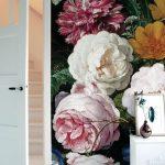 أجمل أوراق الحائط المزينة بأشكال الزهور
