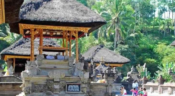 المورقة حول معبد تيرتا إمبول - معبد تيرتا إمبول في بالي