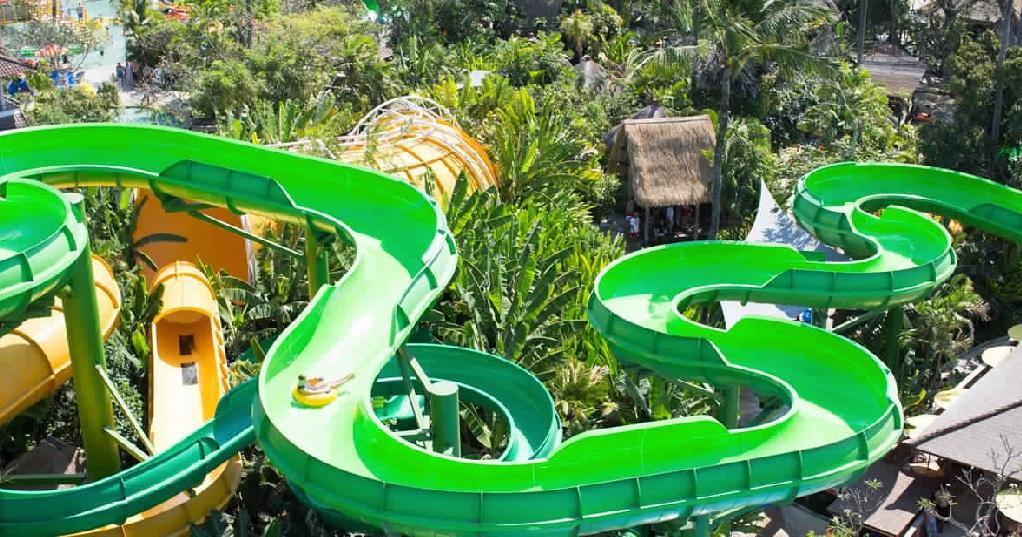المائية في حديقة ووتر بوم - رحلة ترفيهية إلى حديقة وتربوم في بالي