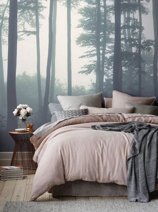 أحدث صيحات غرف النوم لعام ورق-الحائط-