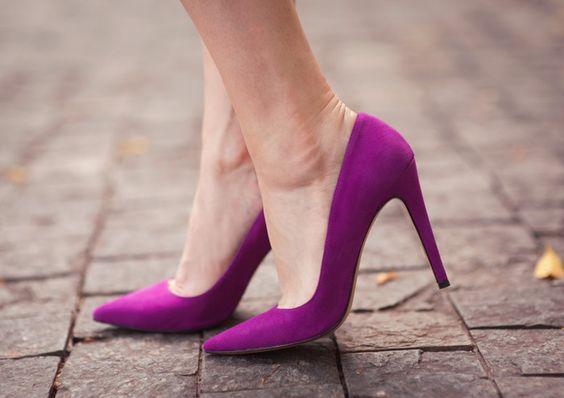 أناقة الألوان العصرية تزين الأحذية حذاء-بنفسج�