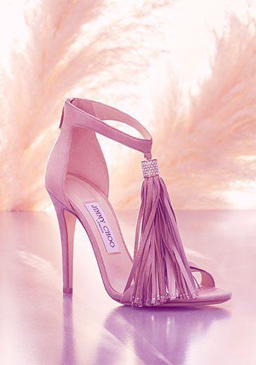 موديلات أحذية جديدة باللون الوردي حذاء-شراشي�