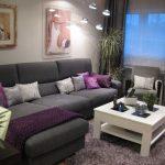 أناقة اللون الرمادي في غرف المعيشة الحديثة