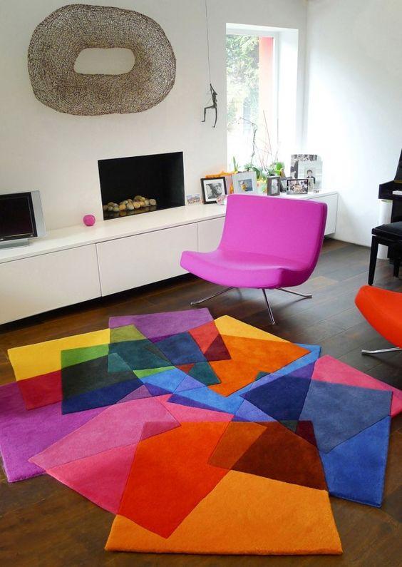 الألوان المتداخلة لأناقة وتميز السجاد سجادة-مربع�