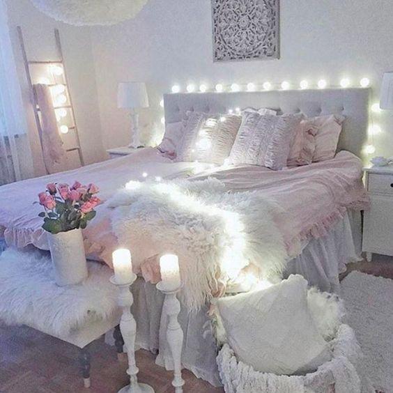 تصاميم رومانسية لغرف نوم حديثة غرفة-بإضاء�