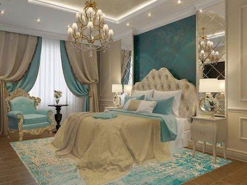 الألوان العصرية تزين غرف النوم غرفة-بيج-و-�