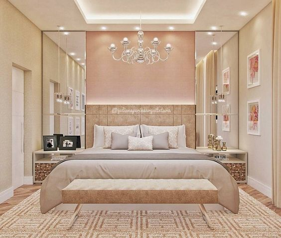الألوان العصرية تزين غرف النوم غرفة-بيج.jpg