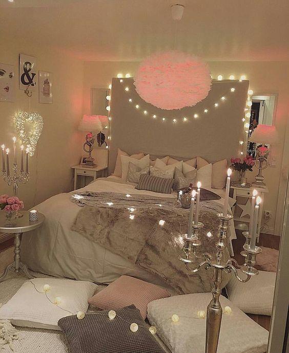 تصاميم رومانسية لغرف نوم حديثة غرفة-رمادي-