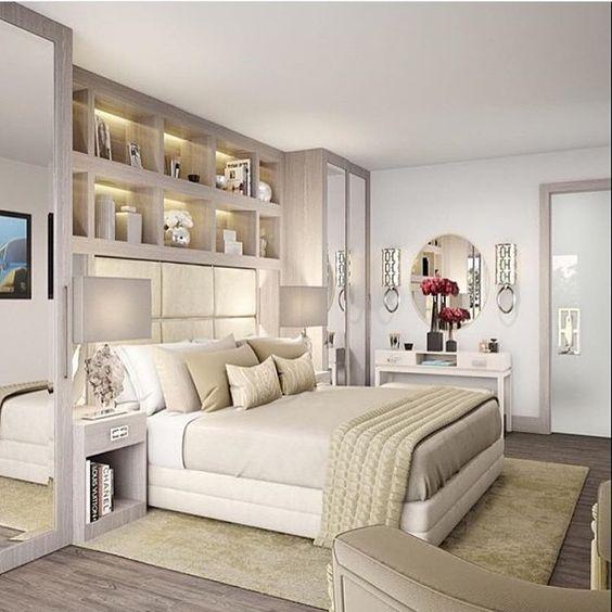 الألوان العصرية تزين غرف النوم غرفة-مبطنة.