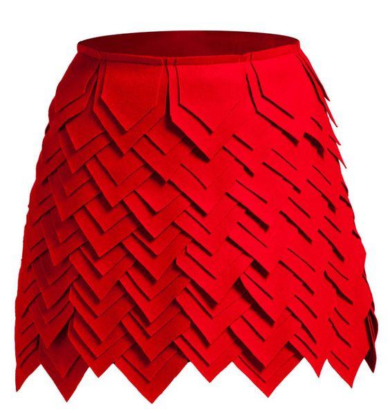 تنانير نسائية بتصاميم وكسر مميزة تنورة-احمر.