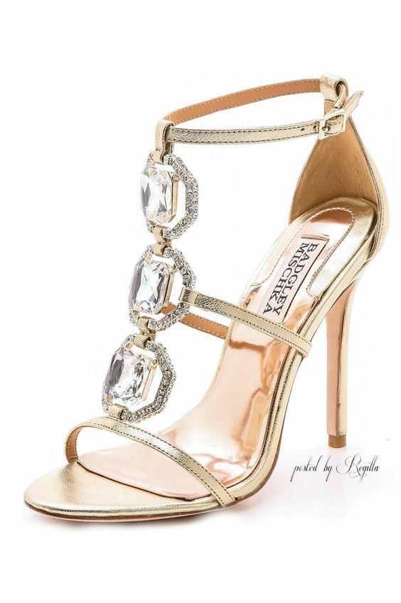الأحذية النسائية الذهبية موضة 2018