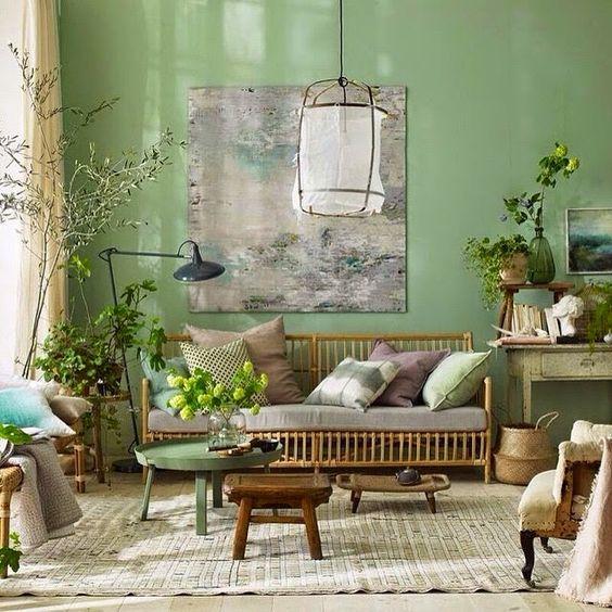 اللون الأخضر يغزو ديكورات المنزل