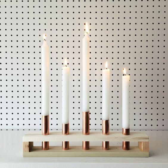 حاملات للشموع شمعدان-ذهب�