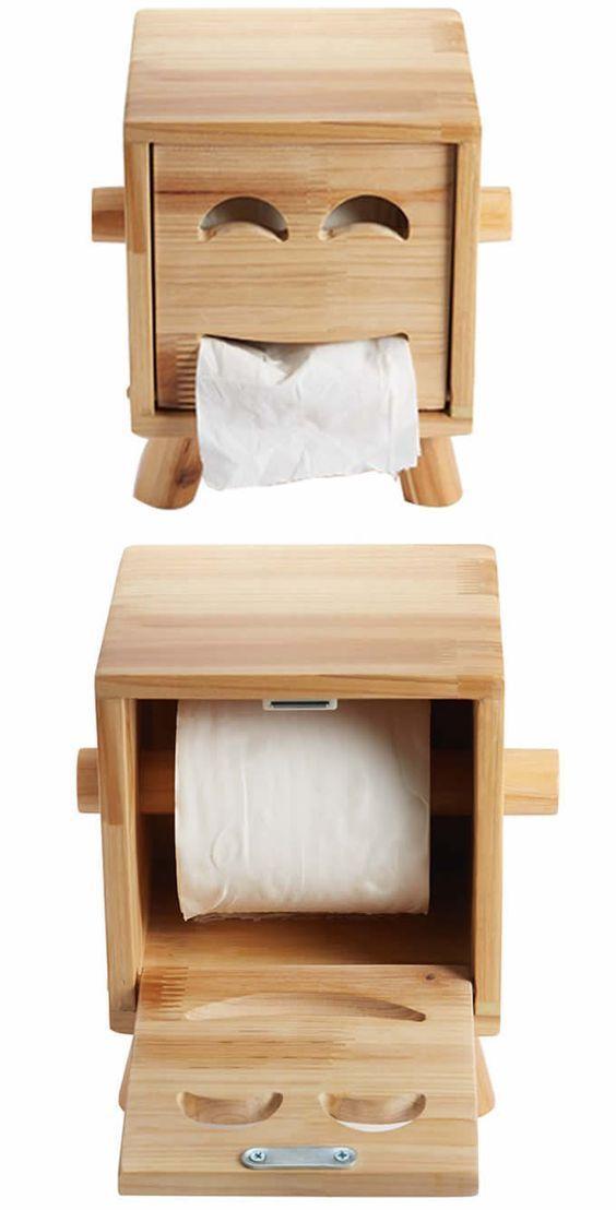 استخدام الألواح الخشبية في الديكور علبة-مناشف.