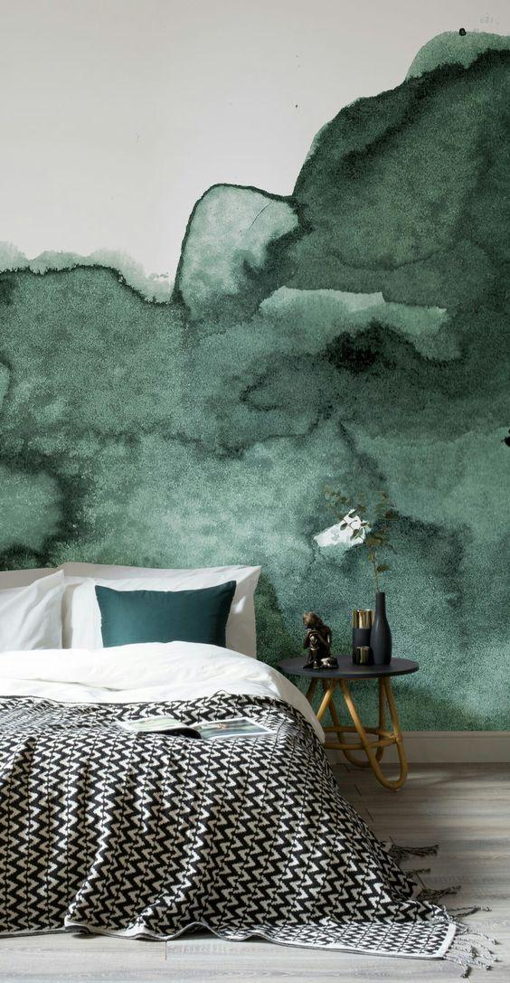 تصاميم مميزة لورق الحائط ثلاثي ورق-اخضر.jpg