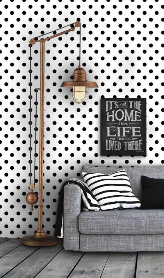 الشكل المنقط يحتل الديكورات المنزلية ورق-حائط.jpg