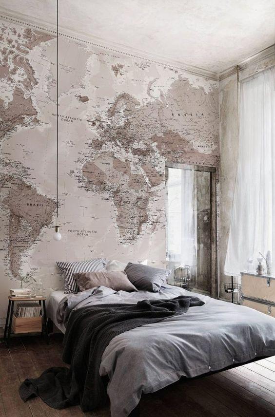 تصاميم مميزة لورق الحائط ثلاثي ورق-خريطة.jp