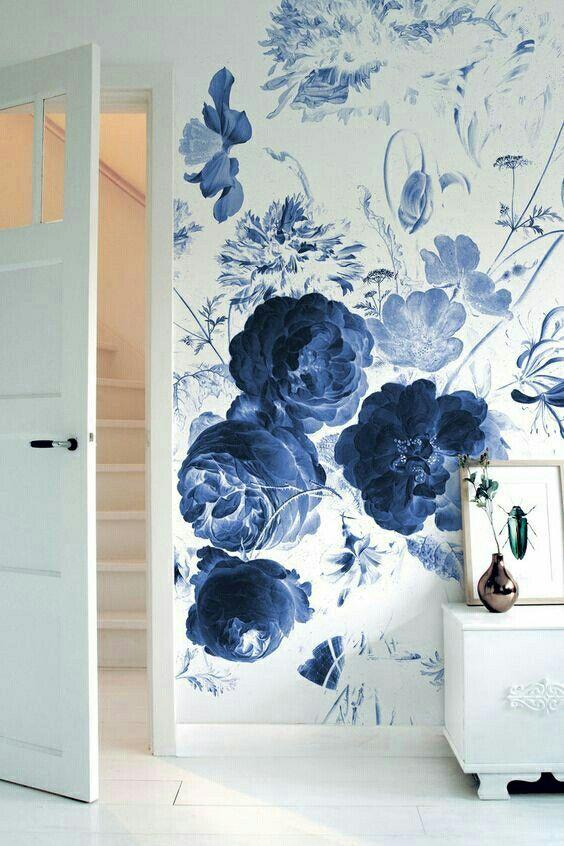 تصاميم مميزة لورق الحائط ثلاثي ورق-ورد-ازر