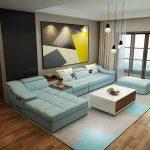 الألوان الصريحة موضة الركنات و غرف المعيشة