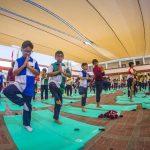 اليوجا لتعزيز الصحة العقلية والتغلب على التوتر لدى أطفال المدارس