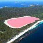 بحيرة هيلير ذات اللون الوردي في استراليا بالصور