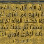 """تفسير الآية """" ثم يهيج فتراه مصفرا ثم يجعله حطاما """""""
