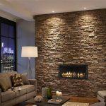 صور أشكال الحوائط الحجرية المميزة للديكور الداخلي حائط-حجري-بمدفأة-150