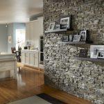 صور أشكال الحوائط الحجرية المميزة للديكور الداخلي حائط-حجري-رمادي-بأرف