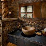 صور أشكال الحوائط الحجرية المميزة للديكور الداخلي حائط-حجري-للمطبخ-150
