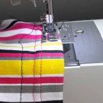 طريقة خياطة قماش الاسترتش المطاط