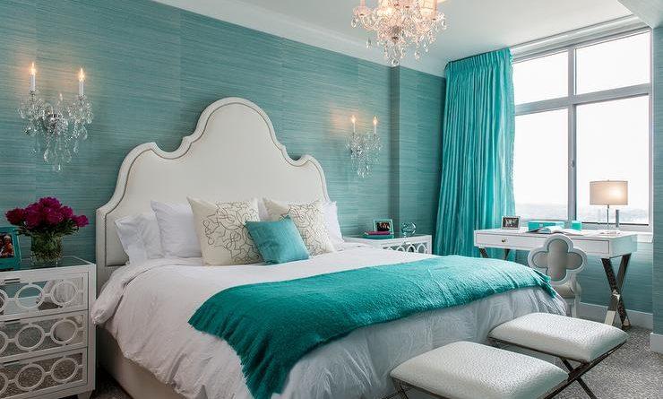 دهان غرفة نوم باللون تركواز المرسال