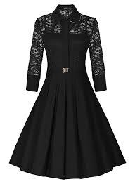 فستان أسود بأكمام