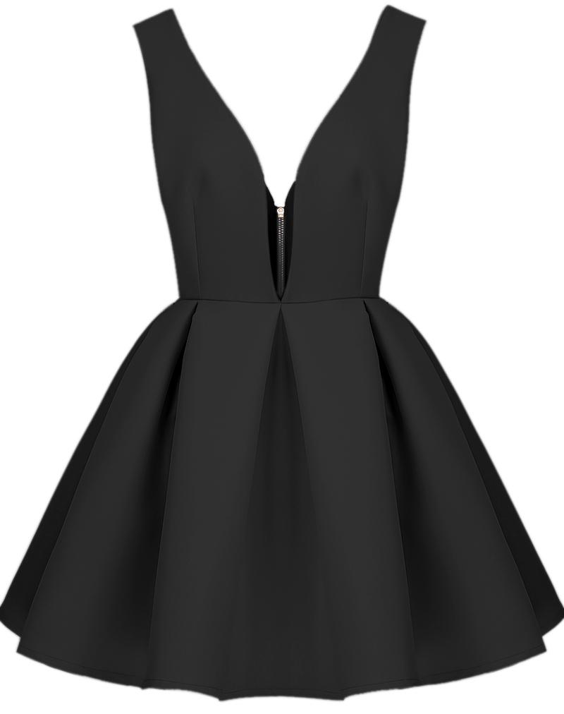 فستان أسود حمالات