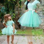 تصاميم حديثة لفساتين السواريه للأم و الطفلة لعام 2018