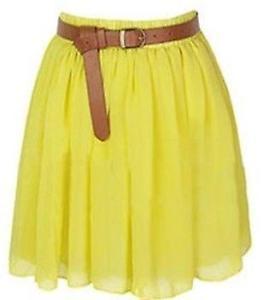تنورة قصير اصفر