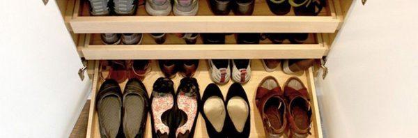 تخزين الأحذية لفترات طويلة