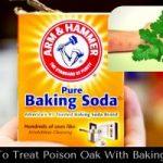 صودا الخبز لعلاج حساسية البلوط السام