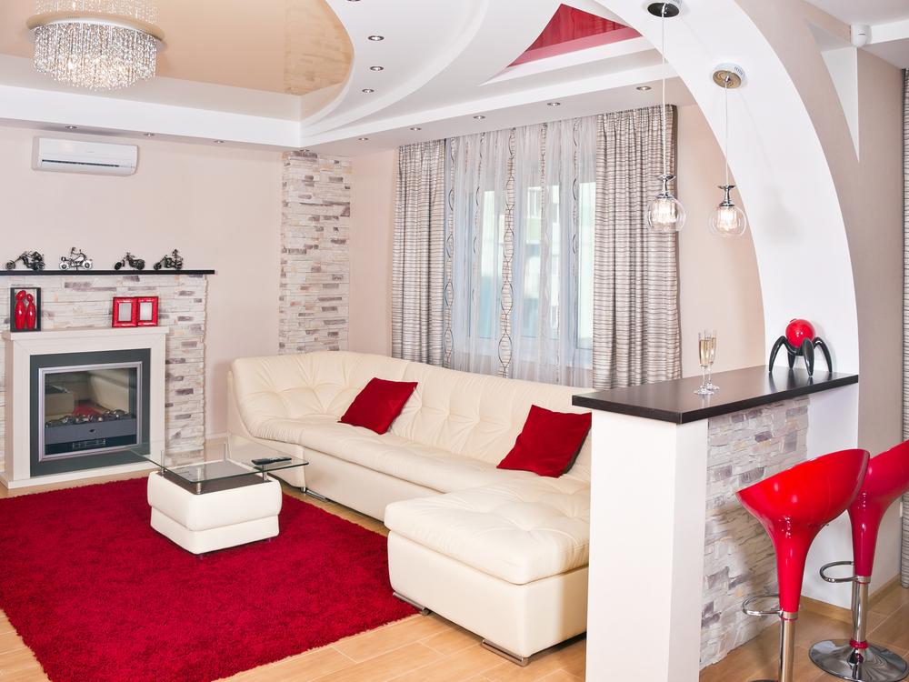 اللون الأحمر الصارخ موضة غرفة