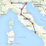 المسافات بين مدن دولة ايطاليا