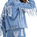 الجاكيت الجينز الكاو بوي موضة الملابس الكاجوال النسائية