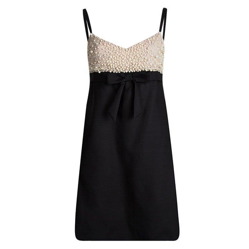 فستان-مطرز-لؤلؤ-اسود