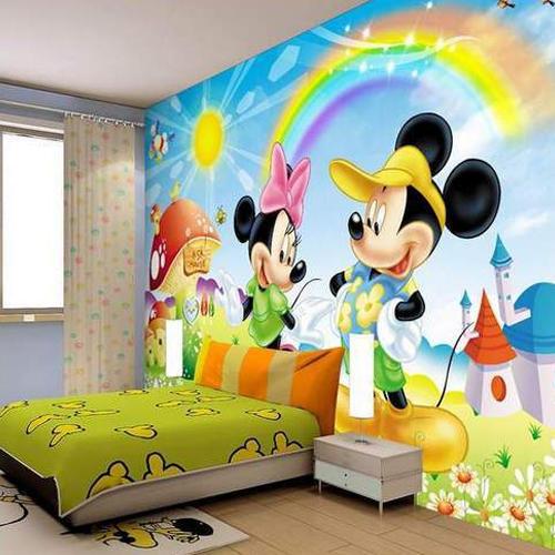 ألوان متنوعة و رسوم أنيقة لورق الحائط الخاص بغرف الأطفال المرسال