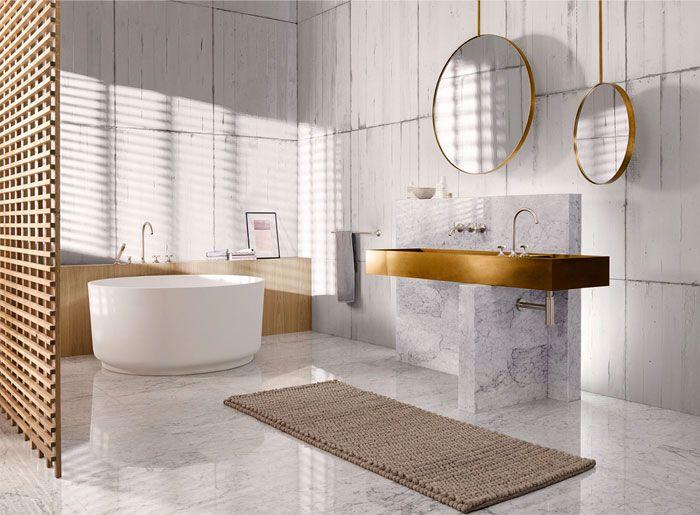 ديكور حمام ذهبي المرسال