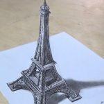 رسم برج ايفل ثلاثي الابعاد بالخطوات