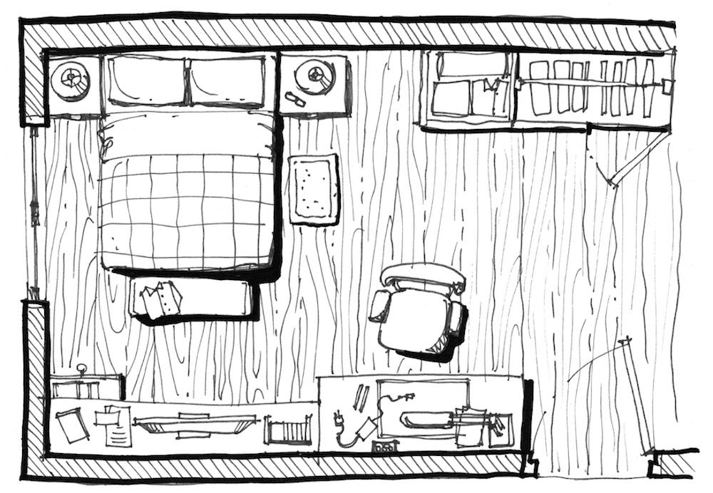 كيفية ترتيب الاثاث بغرفة نوم مستطيلة الشكل | المرسال