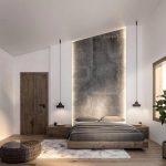 احدث ديكورات حوائط غرف النوم بخرسانات