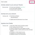 خطوات ايقاف رسائل تويتر على البريد بشكل نهائي