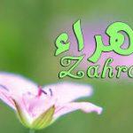 معنى اسم زهراء