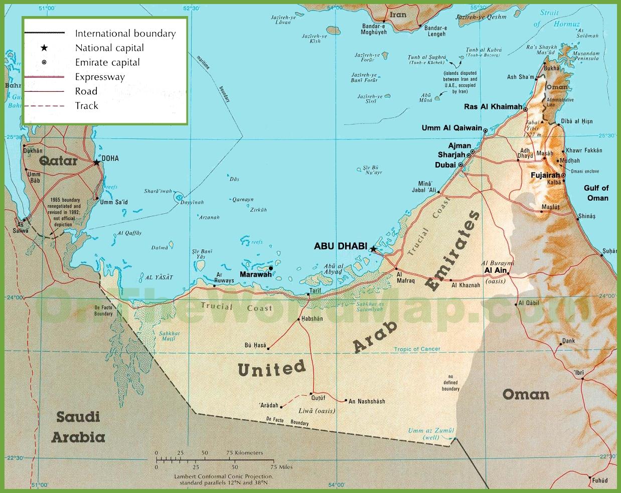 خريطة الامارات التفصيلية المرسال
