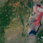 بحيرة الدماء الحمراء في تنزانيا